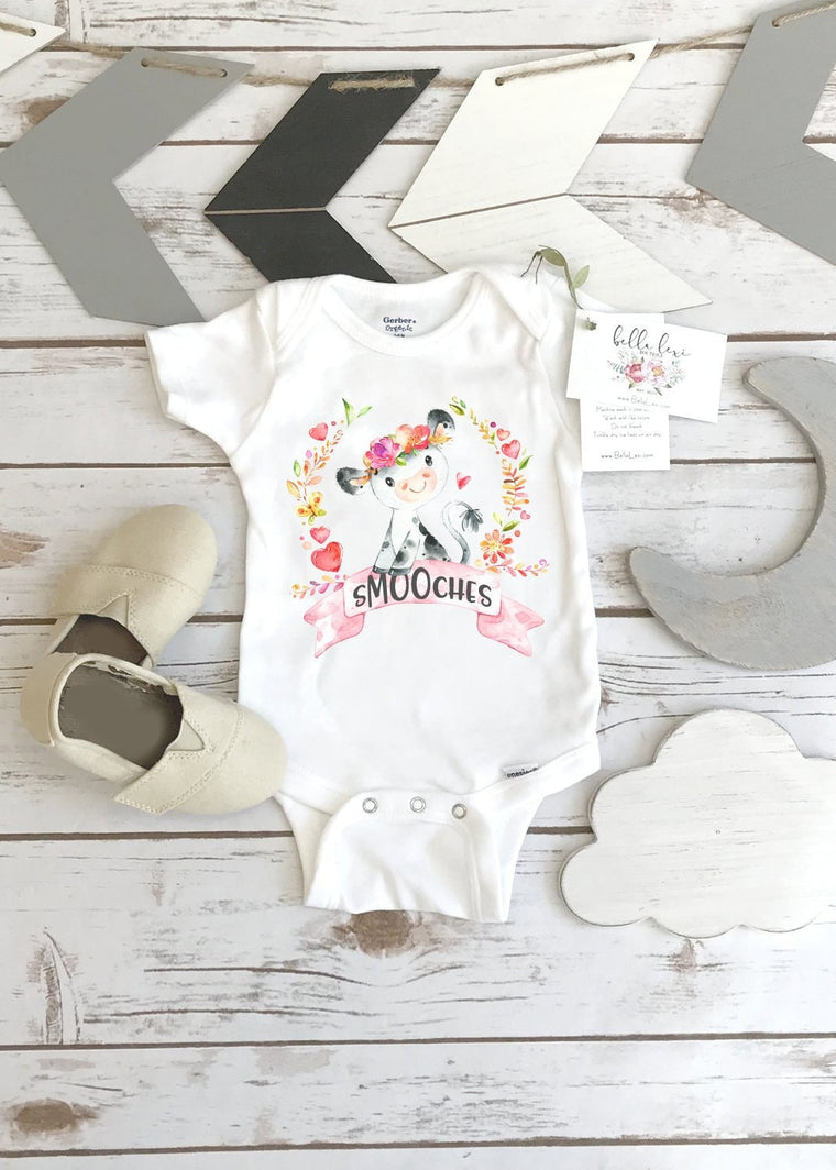 Valentine's Onesie®, Cow Onesie, New to the Herd, First Valentines, Baby Valentine Shirt