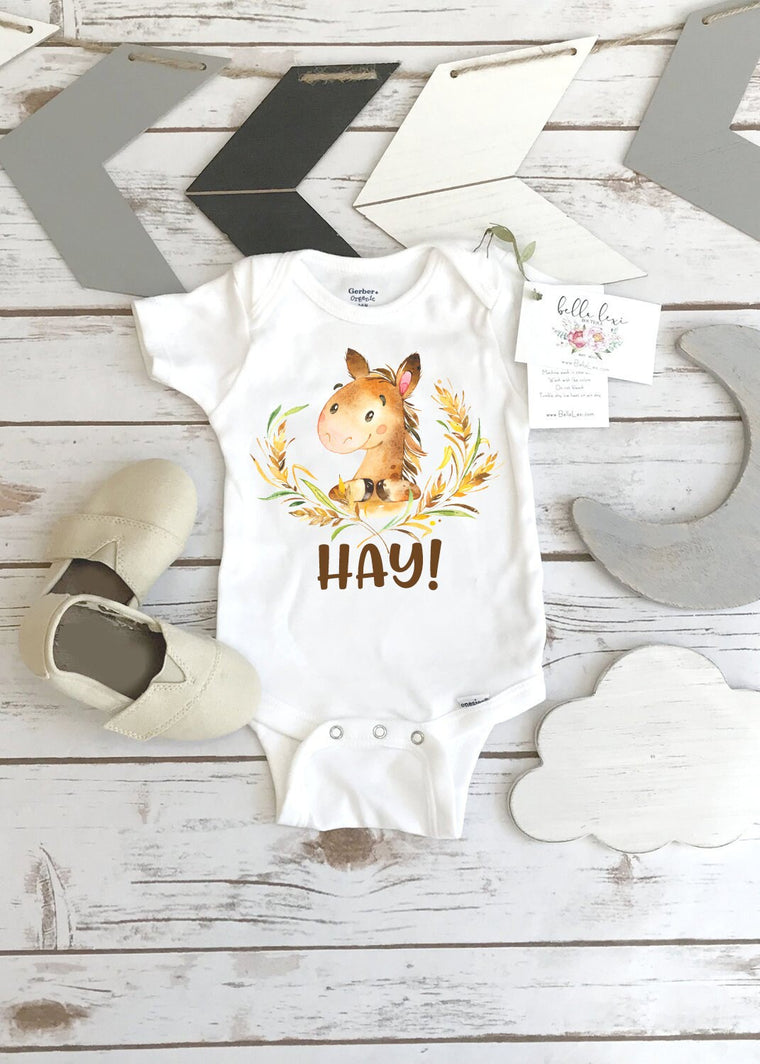 Baby Shower Gift, Horse Onesie®, Country Baby, Farm shirt, Cowgirl