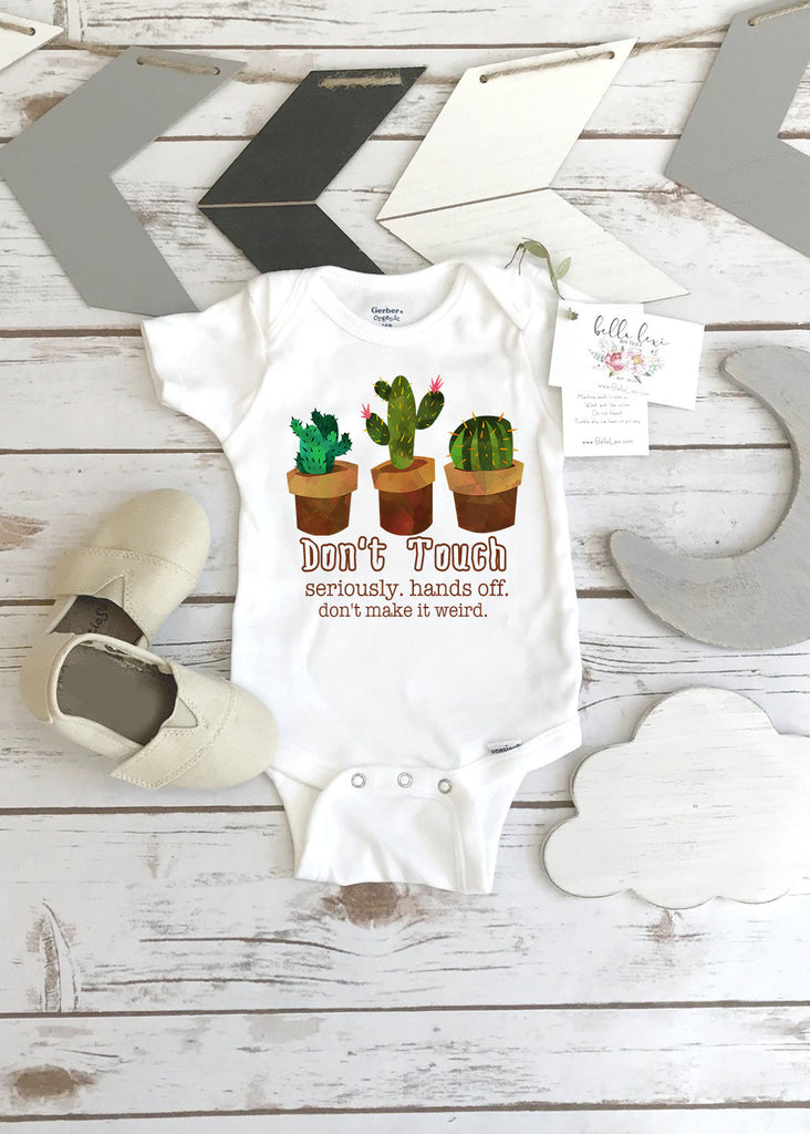 Cactus Onesie®, Don't Touch, Baby Shower Gift, Funny Baby Gift, Newborn Gift