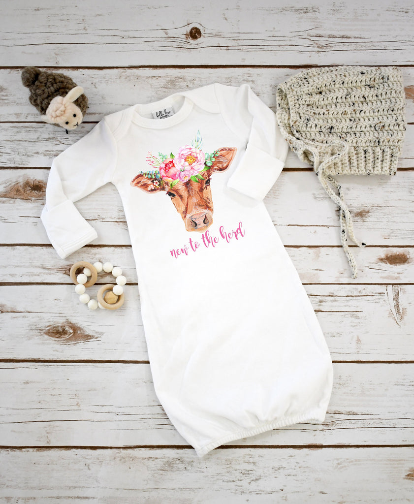 Baby Shower Gift, NEW TO the HERD, Country Baby, Farm shirt, Cowgirl