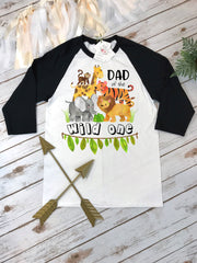 Dad of the Wild One, Wild One Party, Daddy and Me shirts, Jungle Birthday, Safari Birthday