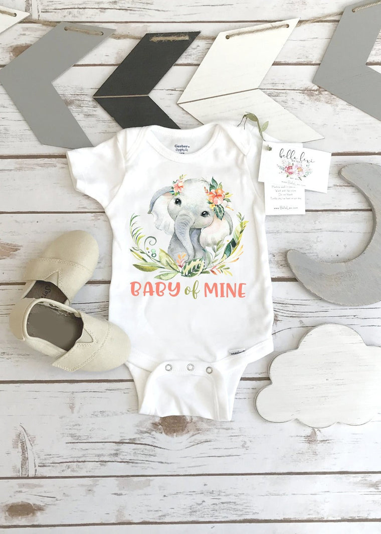 Baby Shower Gift, Elephant Theme, Baby Of Mine, Elephant shirt, Safari Theme