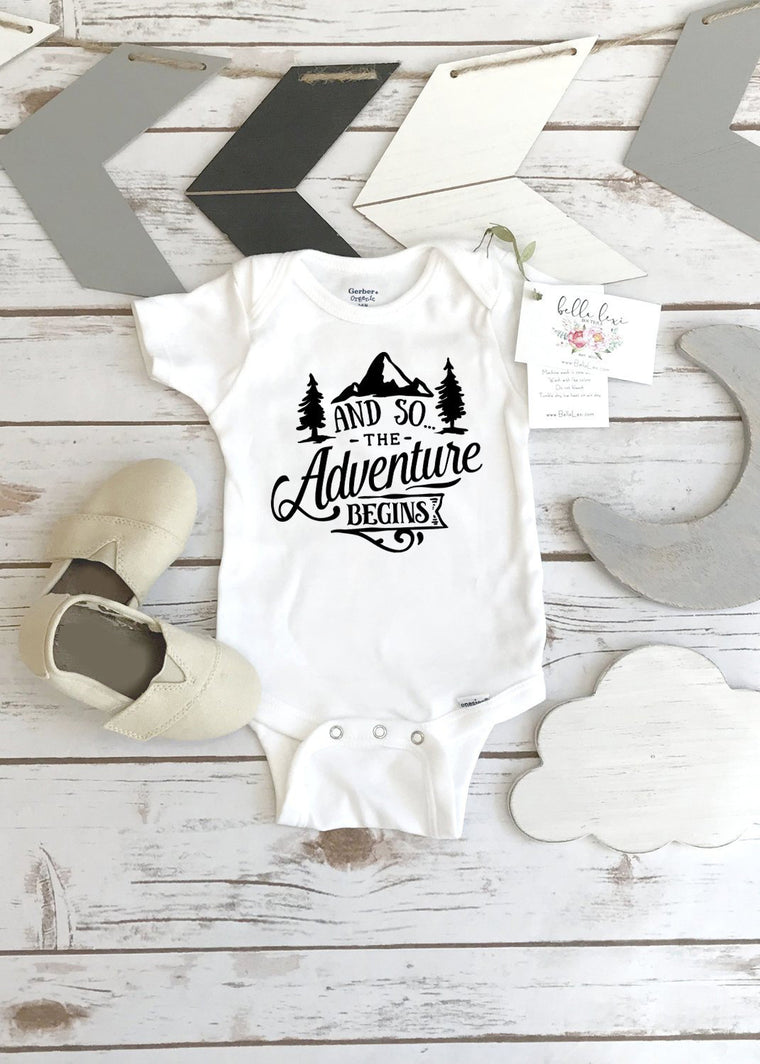 Pregnancy Announcement, The Adventure Begins, Pregnancy Reveal, Expecting Baby shirt, Baby Announcement
