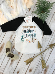 Happy Camper Shirt, Camping Birthday, BROTHER Birthday, Camping Theme, Lumberjack Party