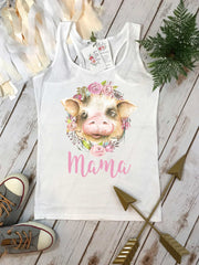 Mama Pig, With an Oink and a Moo, Farm Birthday, Piggy Birthday, Pig Shirt