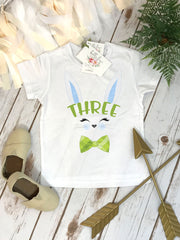 Third Birthday Shirt, Some Bunny is Three, Bunny Birthday shirt, Custom Birthday, ThreeBunny