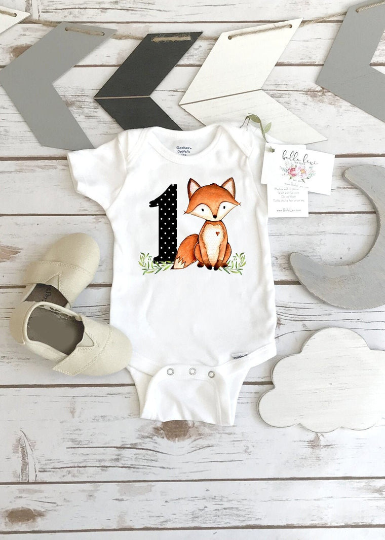Fox Onesie®, First Birthday, Woodland Party, Woodland Theme, Woodland Party