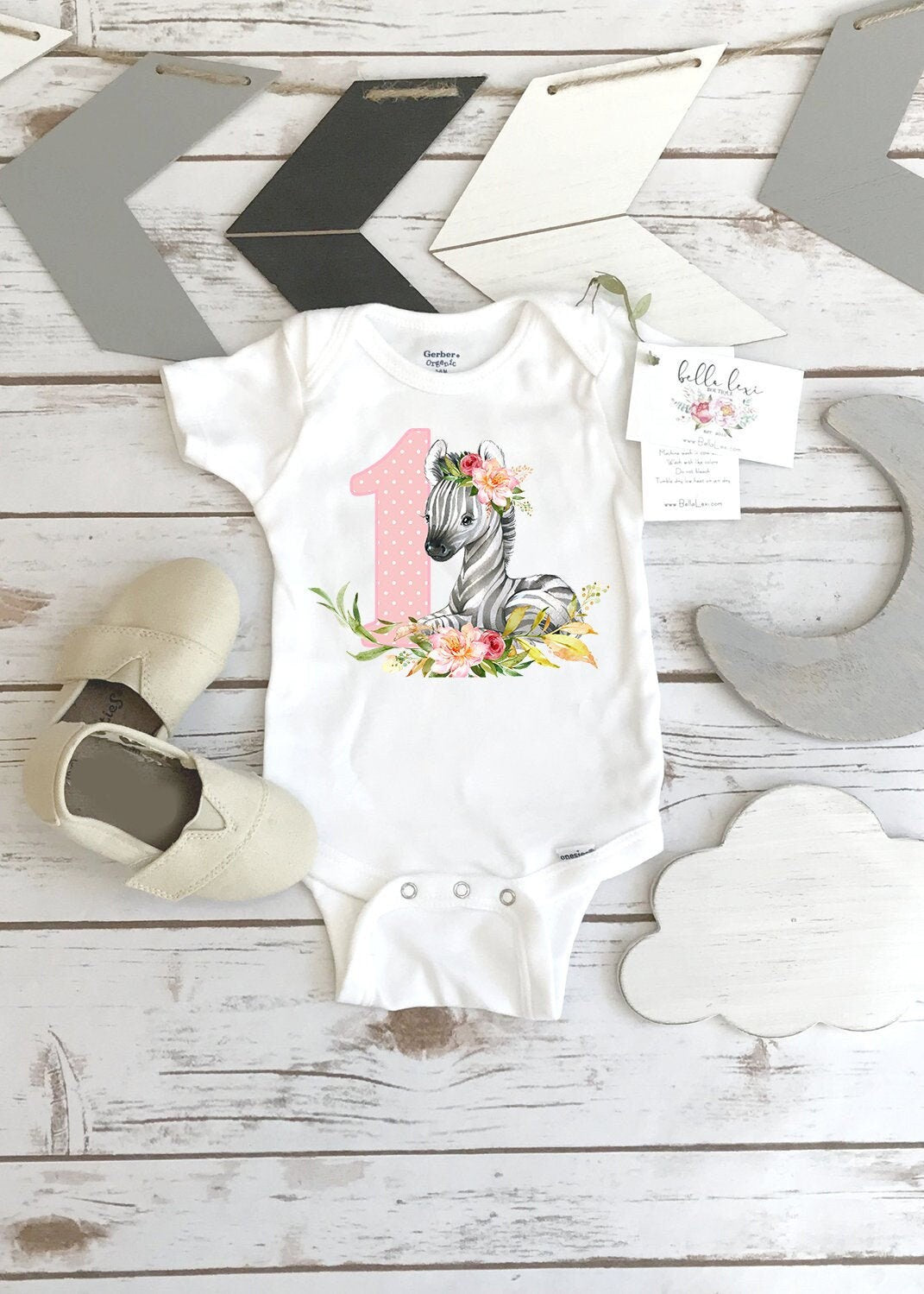 Zebra Onesie®, First Birthday, Zoo Party, Zoo Theme, Safari Party