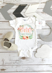 First Birthday Onesie®, One Sweet Peach, Peach Birthday shirt, 1st Birthday, Sweet as a Peach