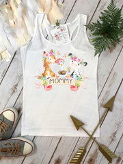 Mommy Shirt, With an Oink and a Moo, Farm Birthday, Oink Moo Turning Two, Girl Birthday