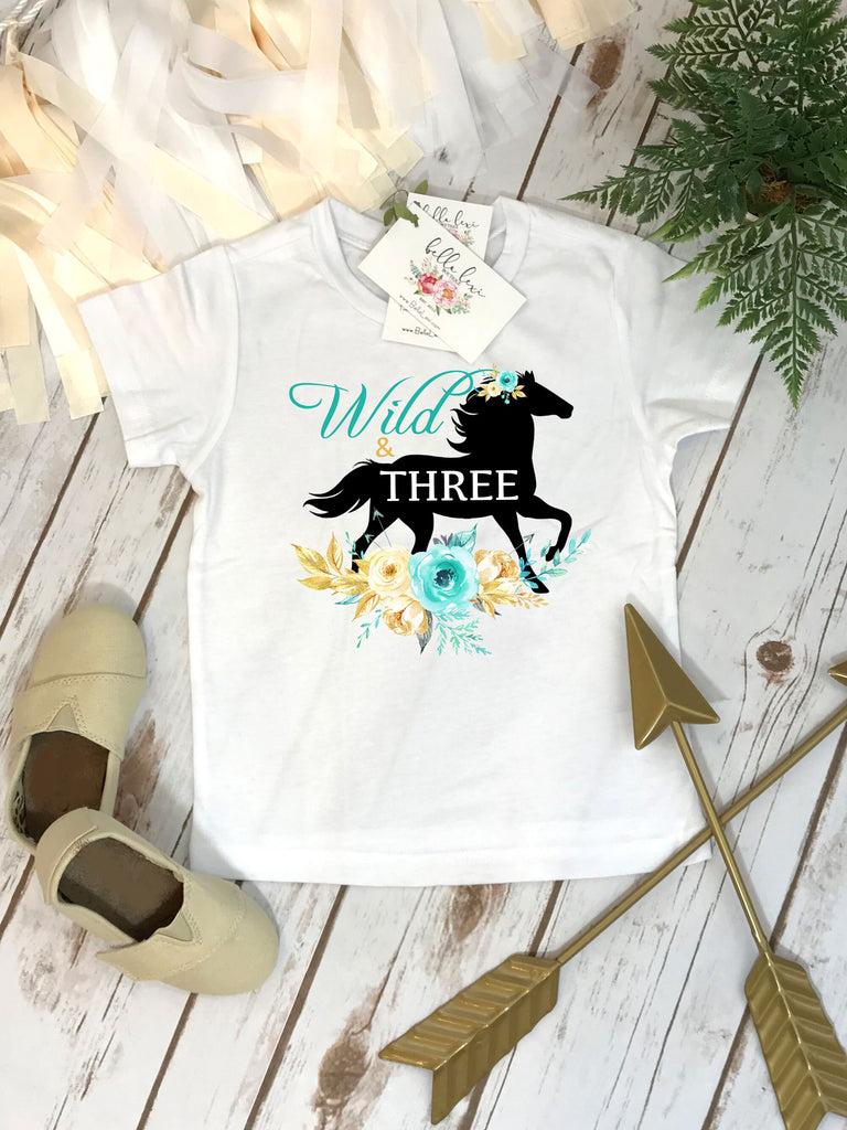 Horse Birthday, Wild and Three, Third Birthday, Horse Party, Niece Gift