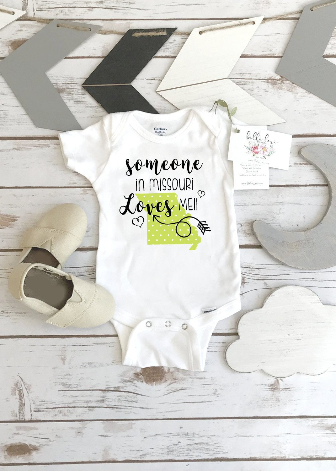 Missouri Onesie®, Baby Shower Gift, Someone in Missouri, State Onesie, from Missouri Love, Niece Gift, Gift from Auntie, Nephew Gifts, Aunt