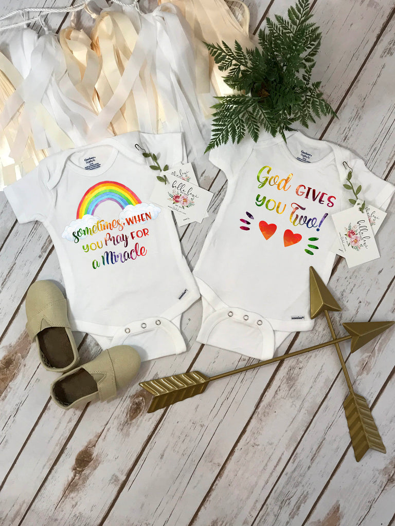 Rainbow Twins, Rainbow Baby Gift, Twins Gift, Miracle Babies, Baby Shower Gifts
