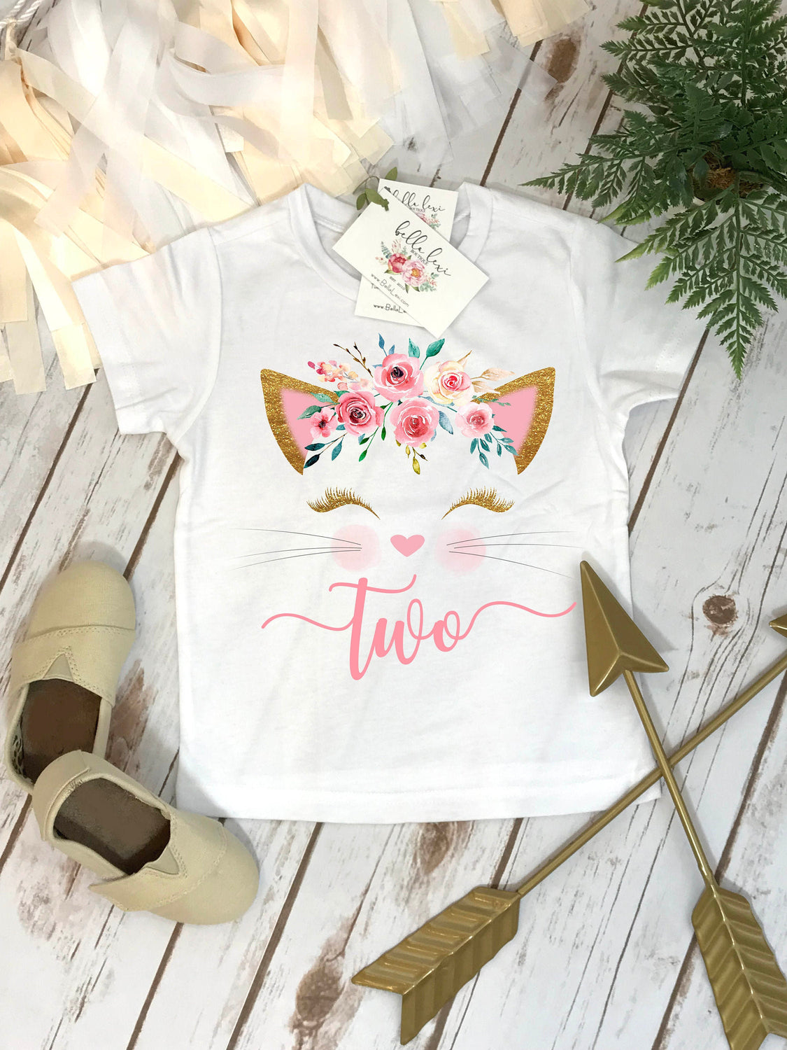 2nd Birthday Shirt, Kitten Birthday, Kitty Birthday shirt, Custom Birthday, Cat Birthday, Cat Shirt, Second Birthday, Girl Birthday Set, Cat
