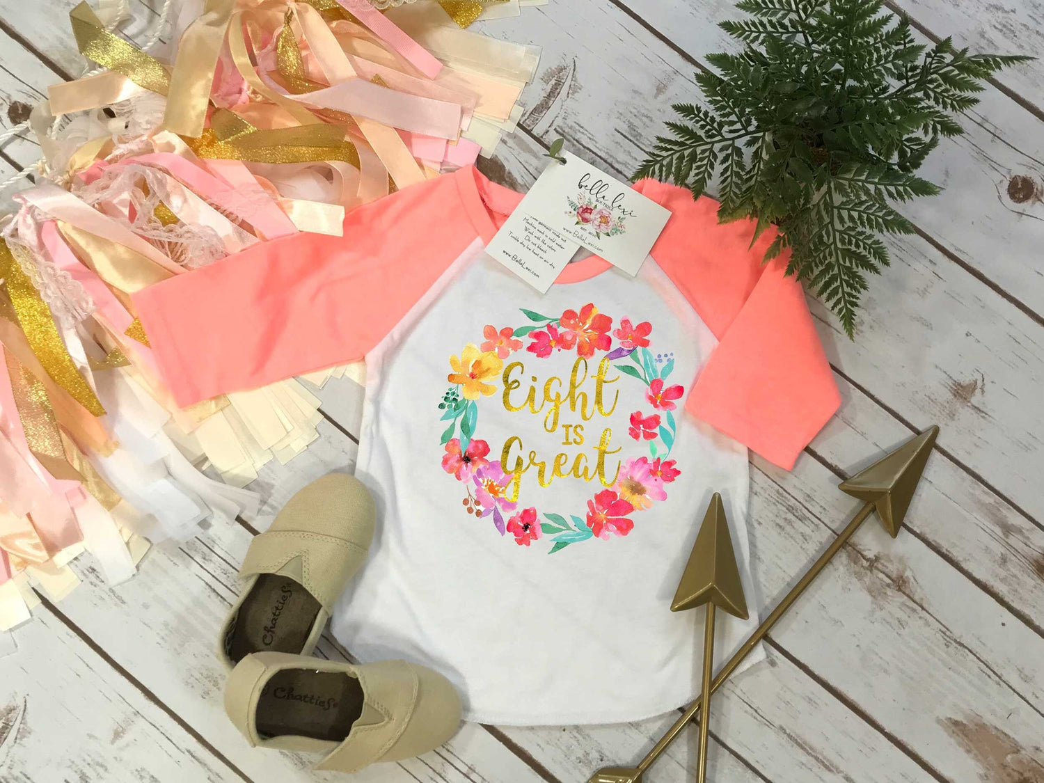 Eighth Birthday, Eight is Great, Girl Birthday Shirt, 8th Birthday, Boho Birthday, Girl Birthday Theme, I am Eight, Girl Birthday, Floral