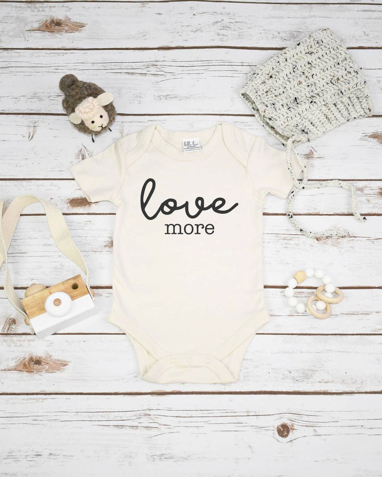 Love More, Organic Baby Bodysuit