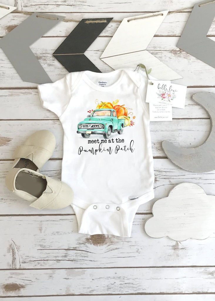 Fall Onesie®, Fall Shirt, Meet me at the Pumpkin Patch, - Bella Lexi Boutique
