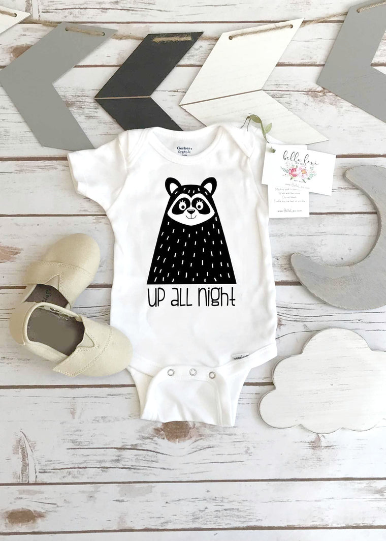 Up all Night, Raccoon Monochrome Onesie®