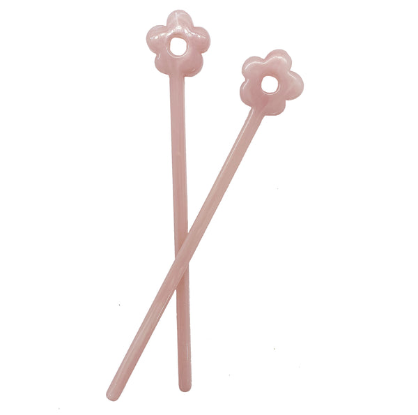 Pink Rose Flower Tamping Stick