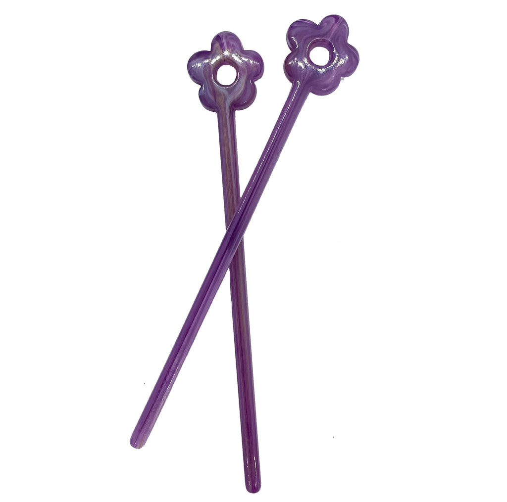 Purple Grape Flower Tamping Stick
