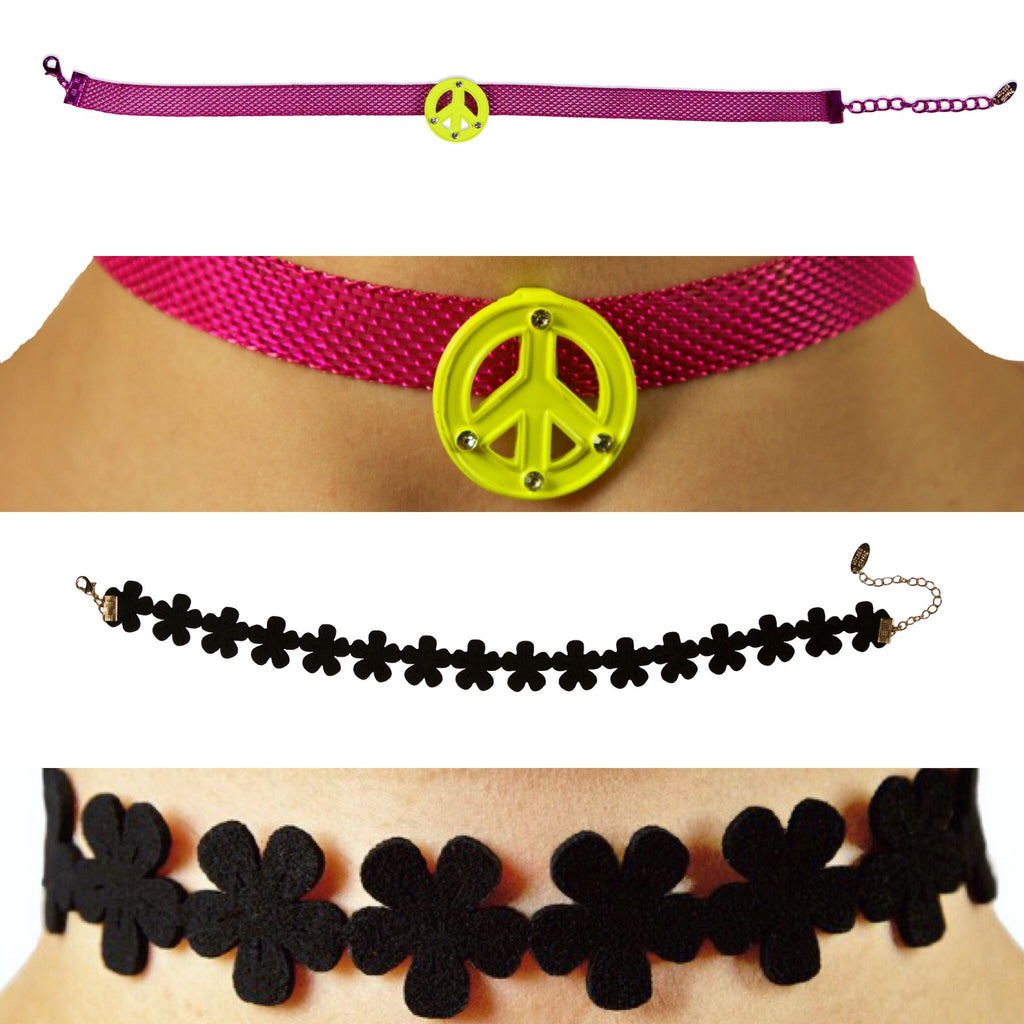 PEACE N MAGIC CHOKER NECKLACE 2 FOR $20 DEAL!