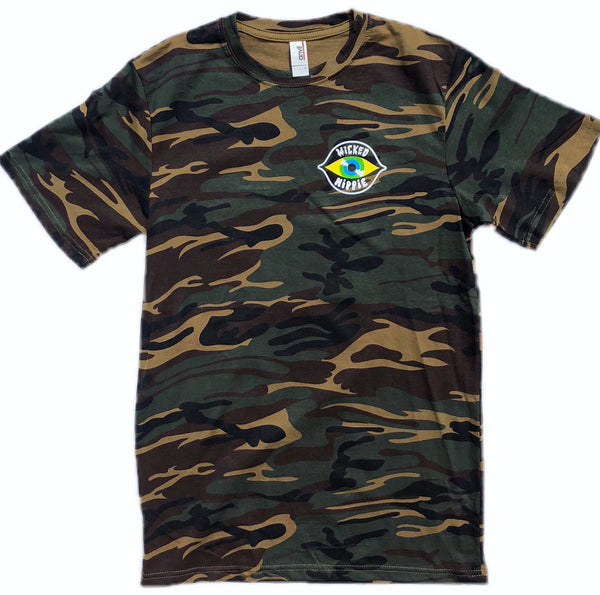 Wicked Hippie Camo Short Sleeve Tee