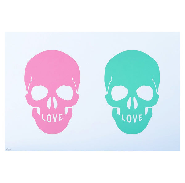 Love U 2 Death Art Print