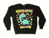 COLLAB! Wicked Hippie X Galaxxxy Dino Sparkles Sweatshirt BLACK