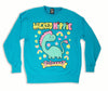 COLLAB! Wicked Hippie X Galaxxxy Dino Sparkles Sweatshirt BLUE