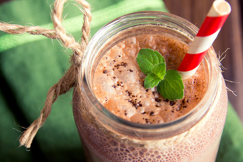Chocolate Mint Pudding & Shake