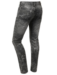 Distressed Rib Biker Jean- Slim Taper Fit - URBANCREWS - 3