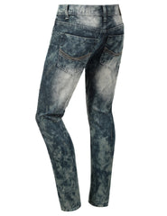 Distressed Rib Biker Jean- Slim Taper Fit - URBANCREWS - 9