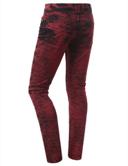 Straight Slim Fit Acid Wash Biker Jeans - URBANCREWS - 9