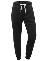 BLACK Basic Fleece Jogger Sweatpants - URBANCREWS