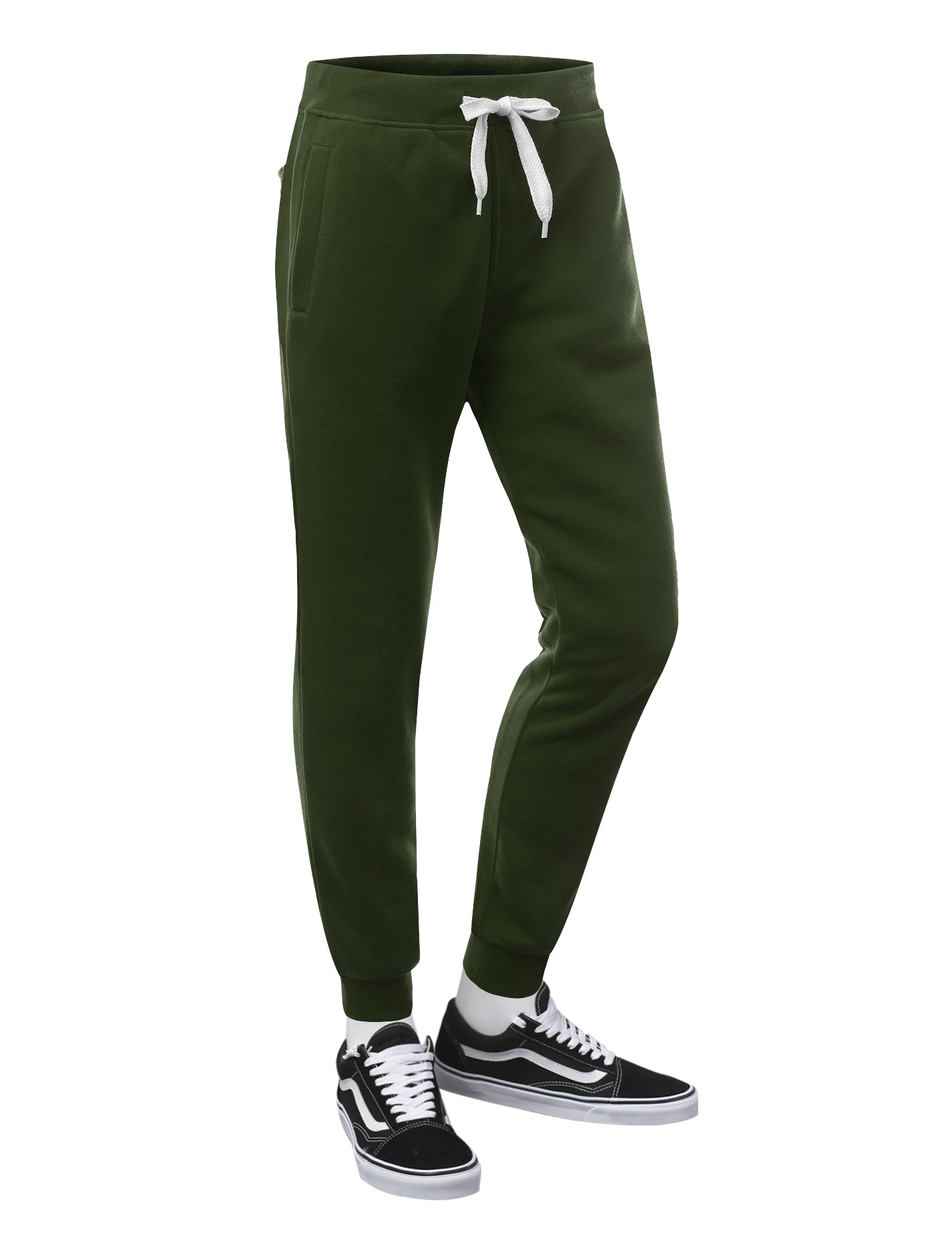 OLIVE Basic Fleece Jogger Sweatpants - URBANCREWS