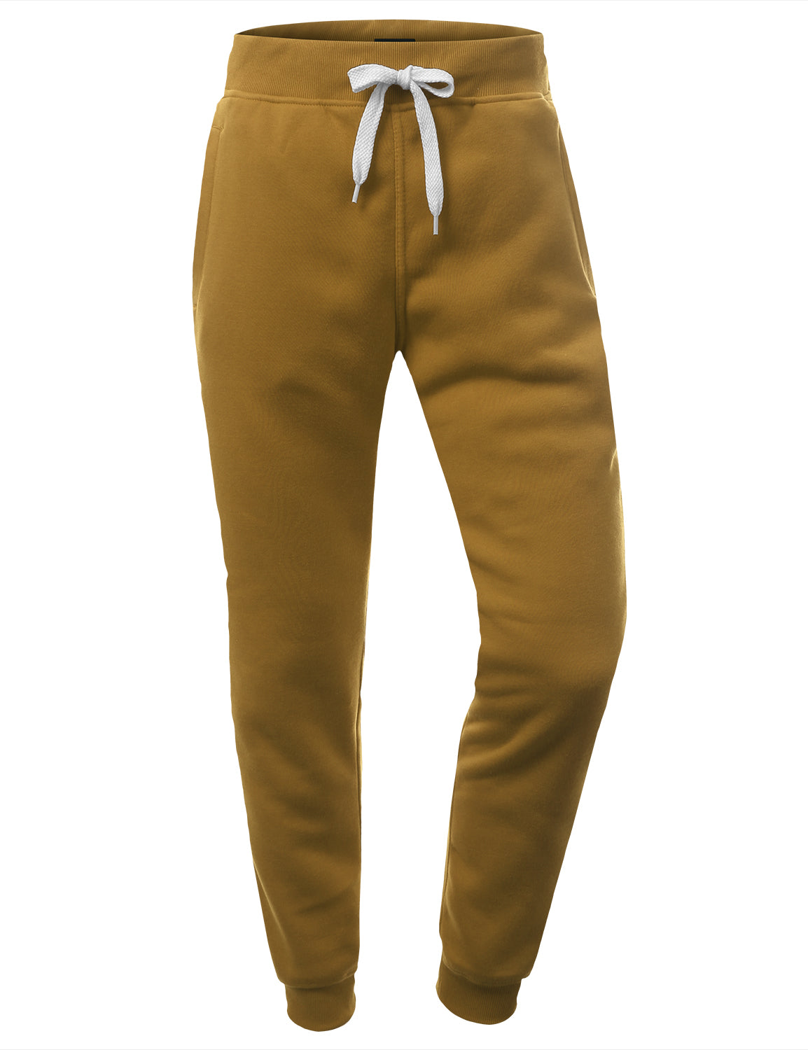 WHEAT Basic Fleece Jogger Sweatpants - URBANCREWS