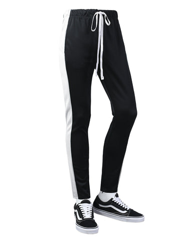 Wide Striped Skinny Track Pants