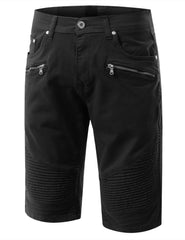 Biker Denim Shorts - URBANCREWS - 1
