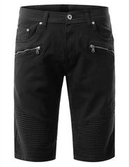 Biker Denim Shorts - URBANCREWS - 2
