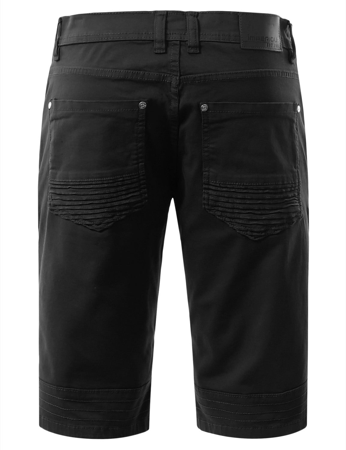 Biker Denim Shorts - URBANCREWS - 3