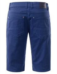 Biker Denim Shorts - URBANCREWS - 24