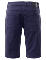 Biker Denim Shorts - URBANCREWS - 21