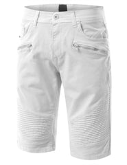 Biker Denim Shorts - URBANCREWS - 4