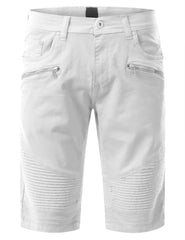 Biker Denim Shorts - URBANCREWS - 5