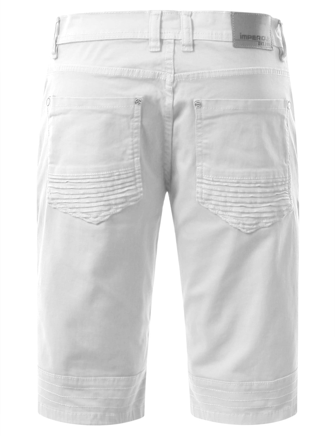 Biker Denim Shorts - URBANCREWS - 6