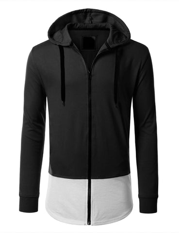 Basic Color-Blocked Zip Hoodie jacket