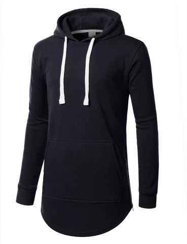 Basic Hoodie with Side Zip
