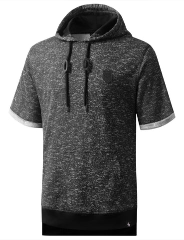 Marled French Terry Short Sleeve Hoodie