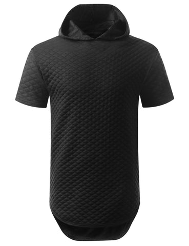 Quilted Short Sleeve Hoodie Shirt