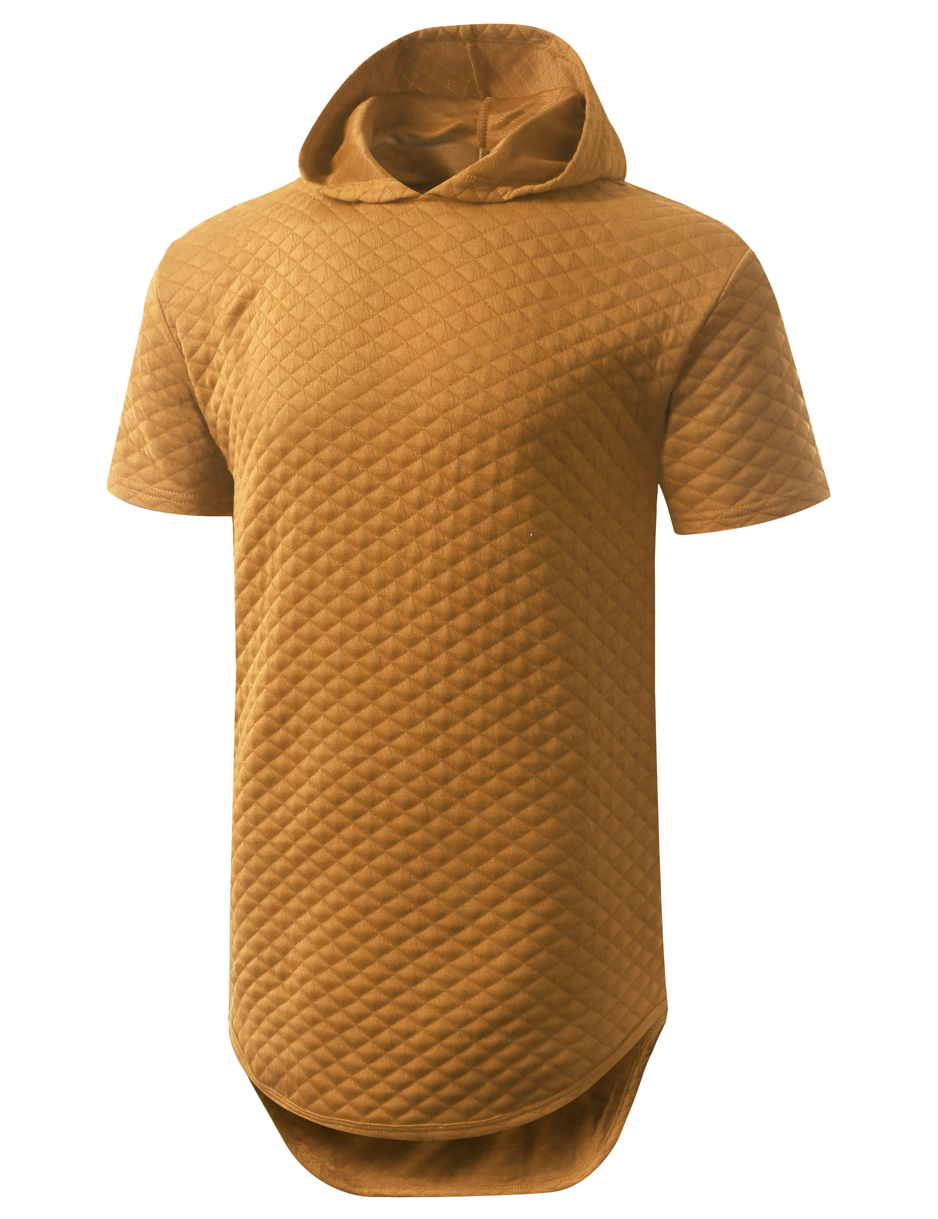 TIMBER Quilted Short Sleeve Hoodie Shirt - URBANCREWS